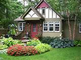 small garden flower beds landscape for front of house