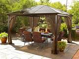 ... Contemporary Gazebos Glamorous Patio Design Gorgeous Wrought Iron