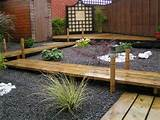 gardening japanese garden with wood pathway for backyard design