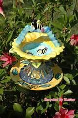 whimsical bird feeder garden yard art by recycledbyskattur 25 00