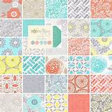 throw blanket rag quilt modern roses coral gray aqua yellow