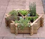 garden herb wheel planter