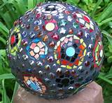 bowling ball mosaic garden art ideas-2