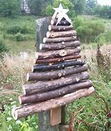rustic primitive outdoor wood christmas tree handcrafted from