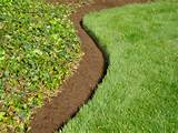 the natural bed edge can be cut with a shovel or motorized bed cutting