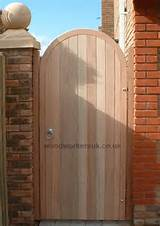 Hardwood semi circular arched headed gates