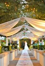 Gallery of Some Ideas for Outdoor Wedding Lighting