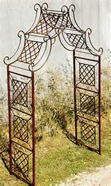 metal arch wrought iron garden curl drape arbor best arbor to last