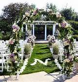 beautiful outdoor wedding decoration design in garden