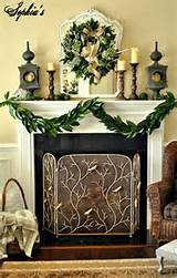 ... Garden Inspired Fresh Greenery for Christmas Mantel Decorating Ideas