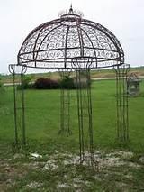 Wrought Iron Jester Arbor Gazebo - Garden Arch