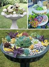 24 creative garden container ideas bird bath planters 5 jpg