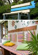unique wooden bench decorating ideas to personalize yard landscaping
