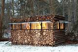 sustainable design green design recycled materials log cabin
