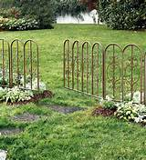 montebello decorative iron garden fencing 51540 montebello fencing set ...