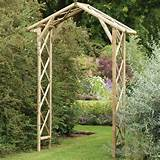 Forest Garden Honeysuckle Wooden Garden Arch