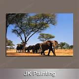 custom unique wall decoration hanging living room elephant painting on