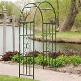 gardman kensington 7ft metal arch arbor contemporary patio furniture