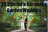 Are you considering a garden wedding ceremony? You are in good company ...