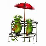 home outdoor decor practicing musician garden frogs