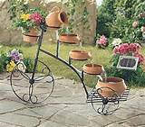 bicycle used for making a water fountain and garden decorations