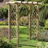 Forest Garden Ultima Pergola Wooden Garden Arch