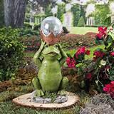 Frog Prince Solar Garden Statue Garden Yard Outdoor Decor **