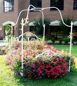 ... reuse and recycle metal bed frames for flower beds and garden design
