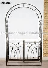 iron garden arch trellis gated