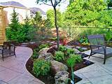 tier patio with walk through garden