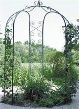 new metal 3 sided garden patio yard arbor gazebo arch trellis hunter