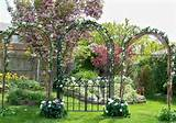 Wedding Decorations, Garden Arbor triple arch