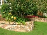 brick raised flower bed designs pic 24
