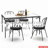 wrought iron dining table and chairs / China Metal Chairs for sale
