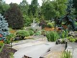 ... » Natural large slab stone staircase landscaping rock garden garden