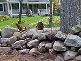 ... of large rocks gives this landscaped garden a deceptively diy look