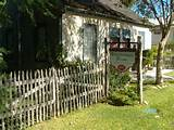 Rustic Picket Fence at Lindheimer Home in New Braunfels, Texas