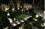 Garden lighting design is arranged like a room of the house.