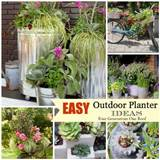 ideas for outdoor flower pots