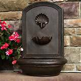 Outdoor Wall Fountain Wall Mount Electric Bird Bath Garden Deck Patio ...