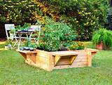 herb garden raised bed design raised bed with benches webjpg