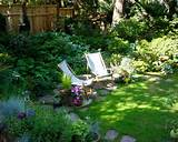 shade garden design photos