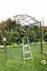how to decorate an arbor DIY arch wedding curly willow