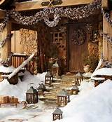 Rustic Traditional Christmas Outdoor Decoration Ideas with Amazing ...