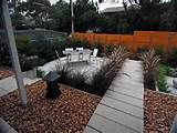 low maintenance garden design using pavers with outdoor dining 800x600