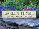 garden thyme sign simple rustic unique garden by crowbardsigns 35 00