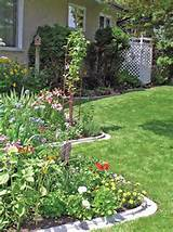 Backyard Garden Design Feature Border Gardening Styles And Beautiful ...