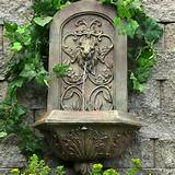 outdoor wall fountains sunnydaze decorative lion outdoor wall fountain ...
