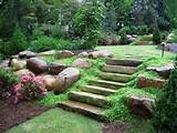 large slabs of rock make a perfect outdoor staircase for