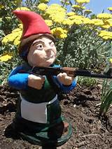 brunette combat garden gnome female rifleman with ak 47
